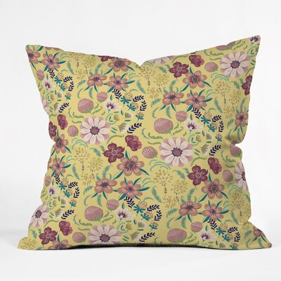 Pimlada Phuapradit Canary Floral Throw Pillow Size: Medium