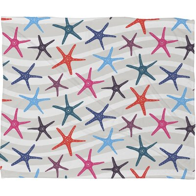 Zoe Wodarz Star Fish Fleece Throw Blanket Size: Small