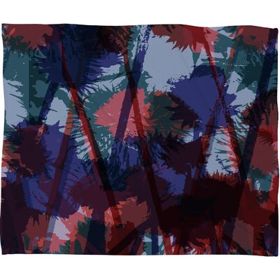 Sarah Bagshaw Thistles Fleece Throw Blanket Size: Small