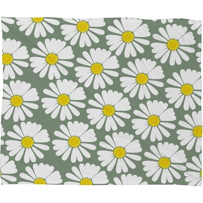 Georgiana Paraschiv Chamomile Fleece Throw Blanket Size: Small