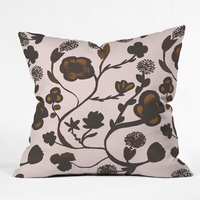 Georgiana Paraschiv Floral II Throw Pillow Size: Medium
