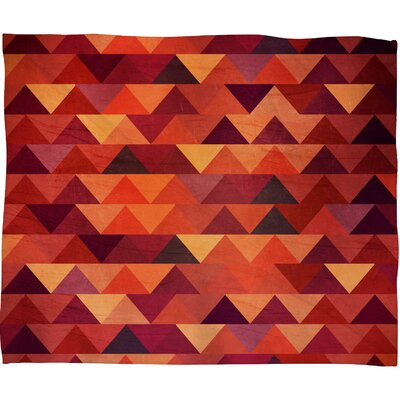 Trianglerain Fleece Throw Blanket Size: Medium