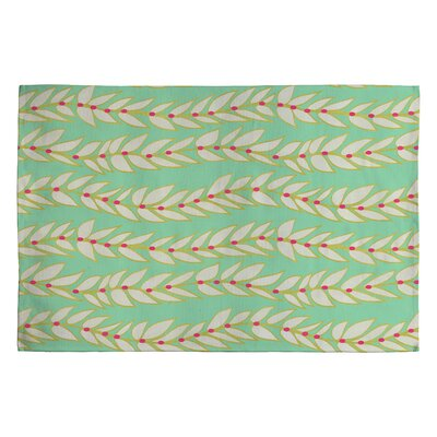 Jacqueline Maldonado Leaf Dot Stripe Mint Rug Rug Size: 2 x 3