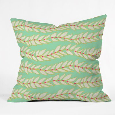 Jacqueline Maldonado Leaf Dot Stripe Throw Pillow Size: Extra Large