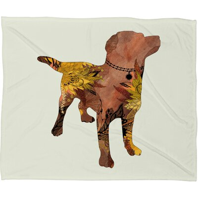 Lab Fleece Throw Blanket Size: Medium
