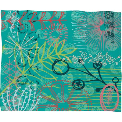Kerrie Satava Summer Burst Fleece Throw Blanket Size: Medium