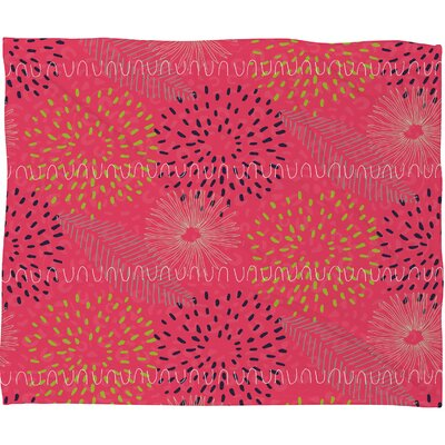 Kerrie Satava Surprise Bloom Fleece Throw Blanket Size: Large