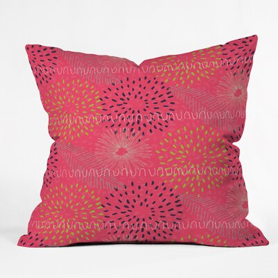 Kerrie Satava Surprise Bloom Throw Pillow Size: Small