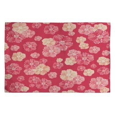 Lisa Argyropoulos Blossoms on Coral Rug Rug Size: 2 x 3