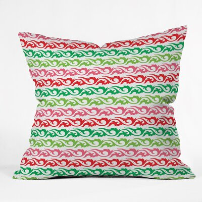 Andi Bird Sugar Plum Stripe Throw Pillow Size: Large