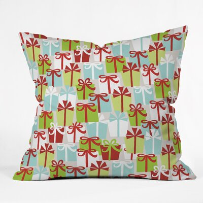 Andrea Victoria Jolly Gifts Throw Pillow Size: Small