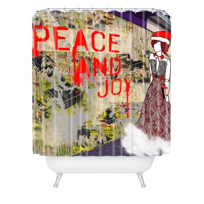 Amy Smith Urban Holiday Shower Curtain