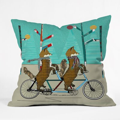 Brian Buckley Foxy Days Lets Tandem Throw Pillow Size: Small