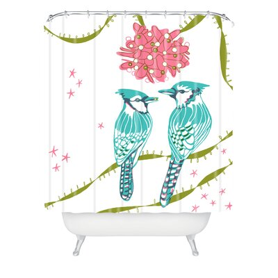 Betsy Olmsted Holiday Birds Shower Curtain