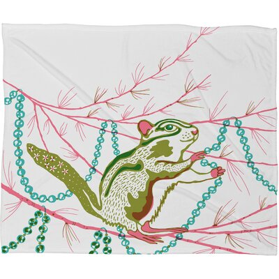 Betsy Olmsted Holiday Chipmunk Plush Fleece Throw Blanket Size: Small
