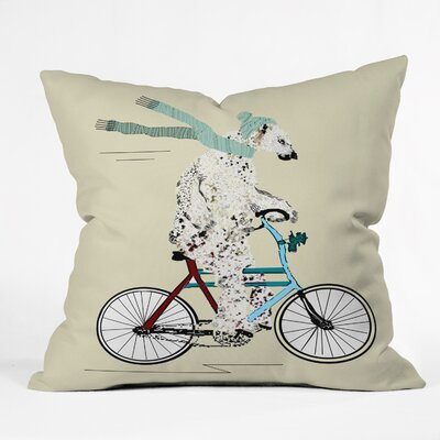 Brian Buckley Polar Bear Days Throw Pillow Size: Small