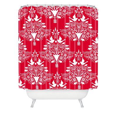 Jacqueline Maldonado Christmas Paper Cutting Shower Curtain