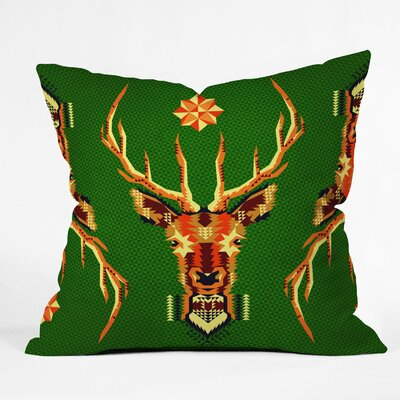 Chobopop Geometric Deer Throw Pillow Size: Small