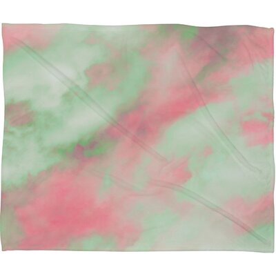 Caleb Troy Pastel Christmas Plush Fleece Throw Blanket Size: Small