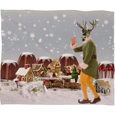 Natt Rudolph Plush Fleece Throw Blanket Size: Medium