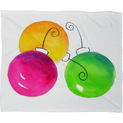 Laura Trevey Holiday Plush Fleece Throw Blanket Size: Small