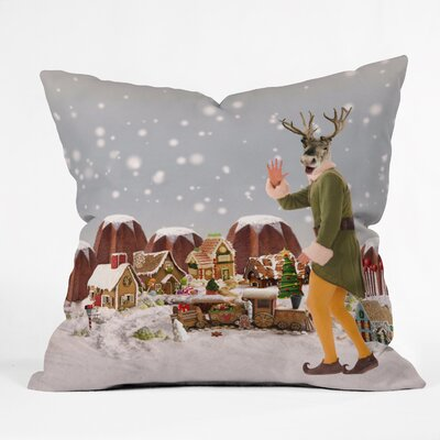 Natt Rudolph Throw Pillow Size: Large