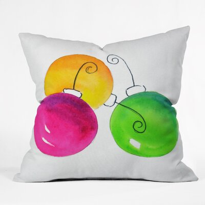 Laura Trevey Holiday Throw Pillow Size: Small