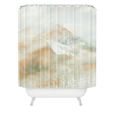 Caleb Troy Banff Gold Painted Christmas Shower Curtain