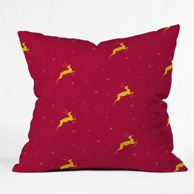 Jacqueline Maldonado Reindeer Stars Throw Pillow Size: Small