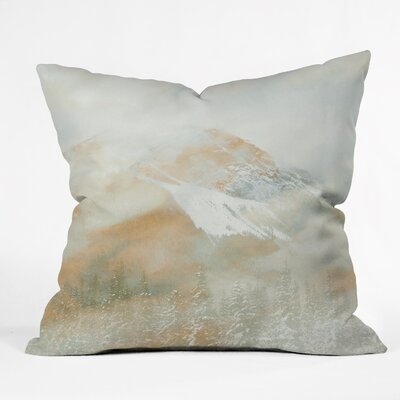 Caleb Troy Banff Painted Christmas Throw Pillow Size: Medium, Color: Gold
