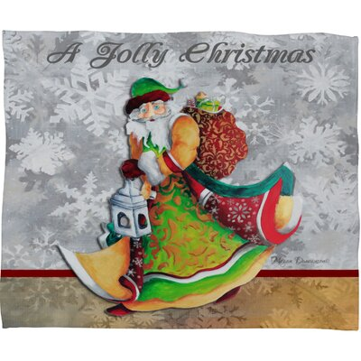 Madart Inc A Jolly Christmas Plush Fleece Throw Blanket Size: Medium