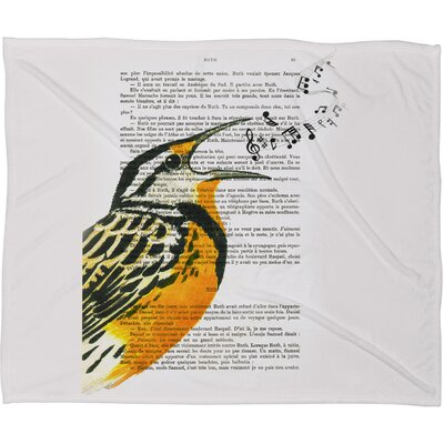 Coco De Paris Singing Bird 01 Plush Fleece Throw Blanket Size: Large