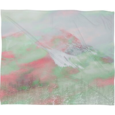 Caleb Troy Banff Painted Christmas Plush Fleece Throw Blanket Size: Small, Color: Red