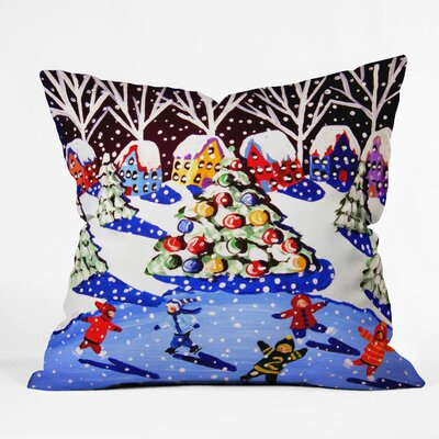 Renie Britenbucher Christmas Ice Skaters Throw Pillow Size: Small