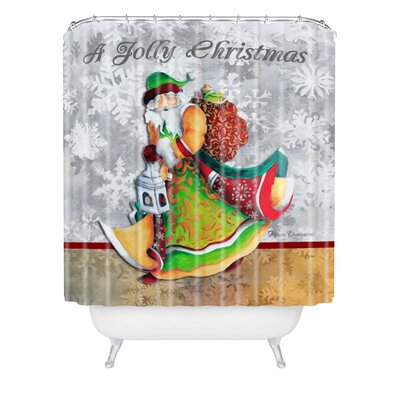 Madart Inc A Jolly Christmas Shower Curtain