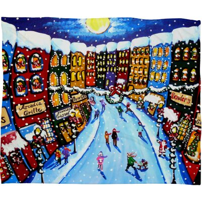 Renie Britenbucher Christmas Shoppers Plush Fleece Throw Blanket Size: Small