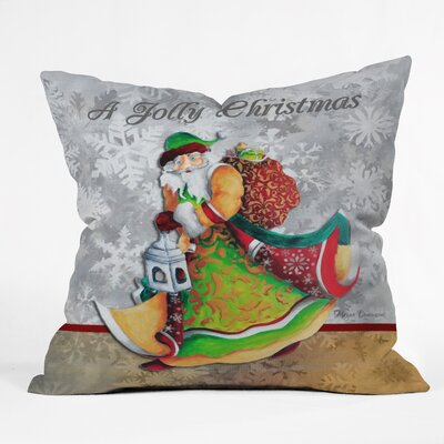 Madart Inc A Jolly Christmas Throw Pillow Size: Large