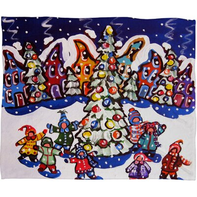 Renie Britenbucher Oh Christmas Tree Plush Fleece Throw Blanket Size: Small