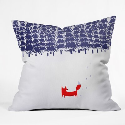 Robert Farkas Alone In The Forest Throw Pillow Size: Large