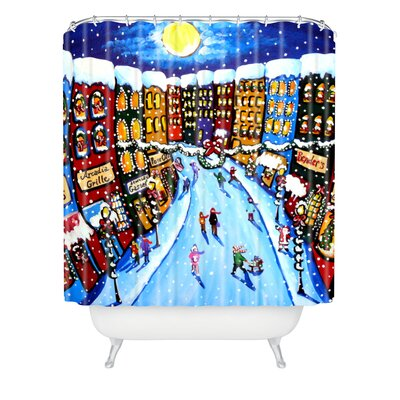 Renie Britenbucher Christmas Shoppers Shower Curtain