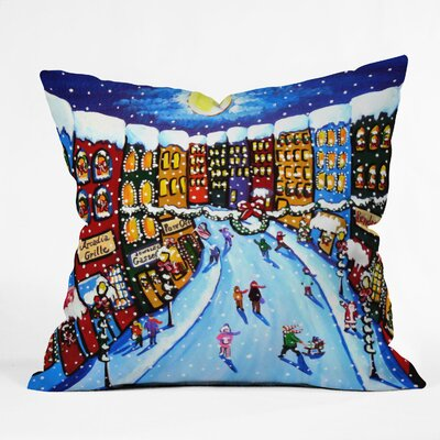 Renie Britenbucher Christmas Shoppers Throw Pillow Size: Large