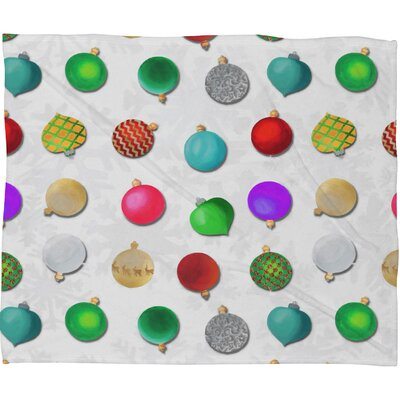 Madart Inc Multi Ornaments Design Plush Fleece Throw Blanket Size: Medium