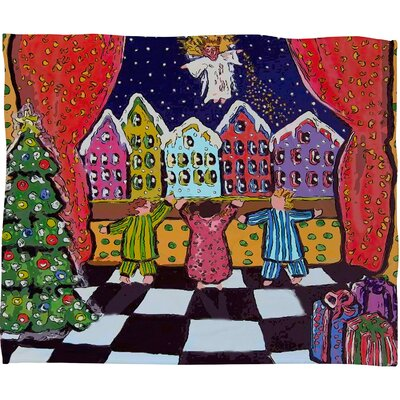 Renie Britenbucher Christmas Angel Plush Fleece Throw Blanket Size: Large