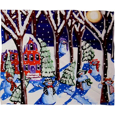 Renie Britenbucher Magic Snowmen Plush Fleece Throw Blanket Size: Small