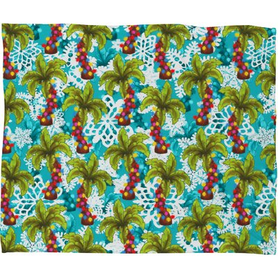 Aimee St Hill Tropical Christmas Plush Fleece Throw Blanket Size: Large