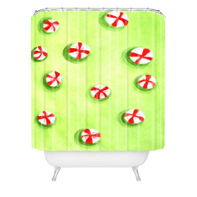 Rosie Brown Christmas Candy Shower Curtain