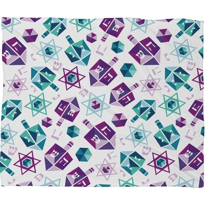 Zoe Wodarz Dreidel Facets Plush Fleece Throw Blanket Size: Small