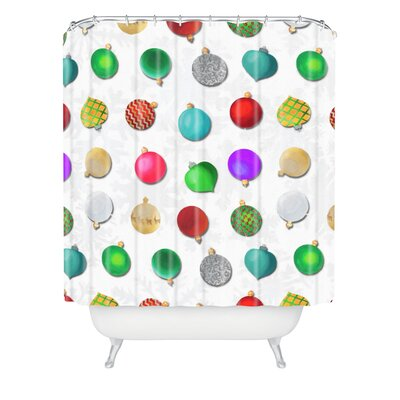 Madart Inc Multi Ornaments Design Shower Curtain