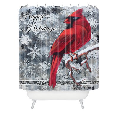 Madart Inc Happy Holidays Design Shower Curtain