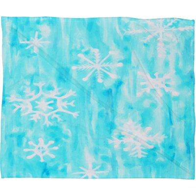 Rosie Brown Snowing Plush Fleece Throw Blanket Size: Small